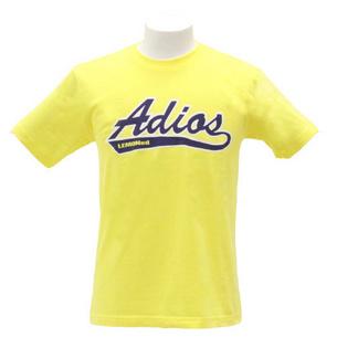 Tシャツ/Adios | イエロー